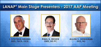 Esteemed clinicians Drs. Brown, Rosen and Honigman present tissue regeneration at the 2017 Annual Meeting of the American Academy of Periodontology.