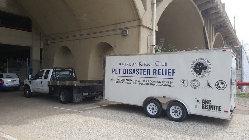 Photo of a trailer that has been previously donated
