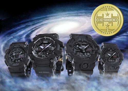G-SHOCK's New Matte Black Collection, In Celebration of Brand's Upcoming 35th Anniversary (PRNewsfoto/Casio, Inc.)