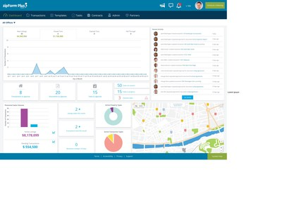 The zipForm® Plus Broker Dashboard equips broker administrators with a suite of oversight and reporting tools for managing multiple agents and office locations at a time.