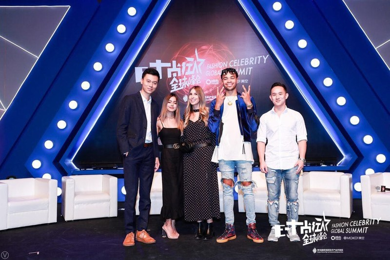 from left to right: WME|IMG China Clark Cai, Instagram Influencer Lily May Mac, UTA Chloe Popescu, US Producer Maejor, Youtube Star Jason Chen
