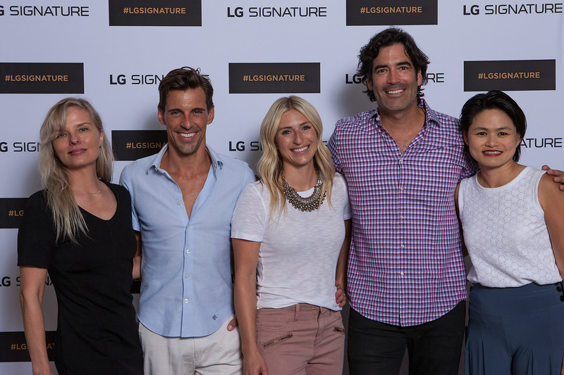 Dana Dickey, Madison Hildebrand, Jasmine Roth, Carter Oosterhouse and Peggy Ang (from L to R) at the LG SIGNATURE Oceanfront Discussion: Design & Tech in 2017. (Photo Credit: Tom Bonner)