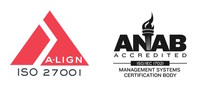 AYTM's ISO 27001 certification is provided by A-LIGN, which is accredited by ANAB.