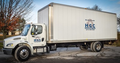 HGC Management Inc. manages a fleet of 75 waste & recycling vehicles. (CNW Group/Canada Fibers Ltd.)