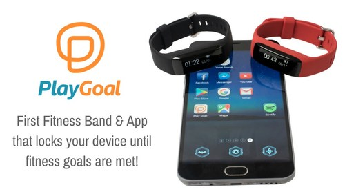 The PlayGoal fitness band and app disables any Android or Kindle device until a child has been sufficiently active for the day.