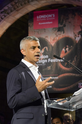 Mayor of London Sadiq Khan launches London's Autumn Season at the Natural History Museum. At the event, the Mayor launched a bold new vision for Tourism in London, which projects that visitor numbers in the city could rise by 30 per cent by 2025, topping 40 million a year with spending set to hit £22 billion. (PRNewsfoto/London & Partners)
