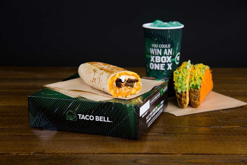 Each Taco Bell $5 Box will include a unique code for consumers to text in for a chance to win the new Xbox One X, and throughout the duration of the promotion a potential winner will be notified on an average of every 10 minutes.