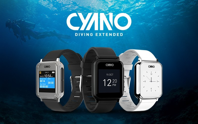 CYANO is a wristwatch-style dive computer