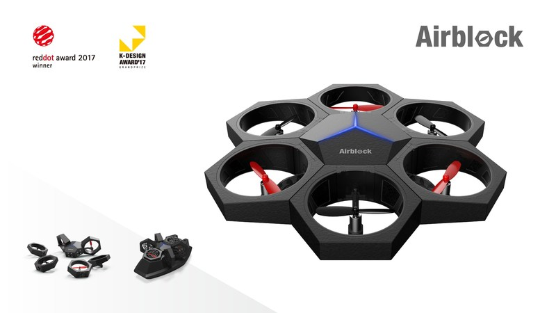 Airblock is a modular and transformable drone that was also recognized by international awards.