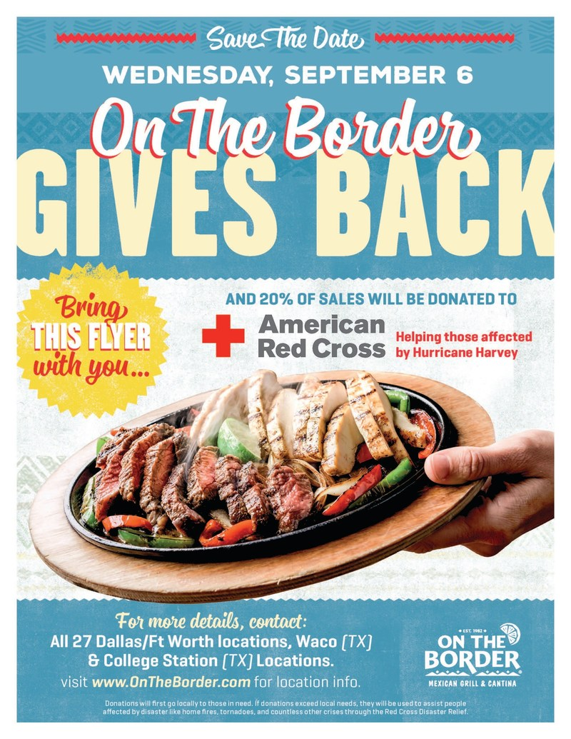 All Dallas-Fort Worth, Waco and College Station Locations Work Together to Support American Red Cross Efforts