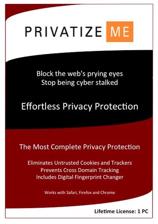 PrivatizeMe Anti-Tracking for Macs