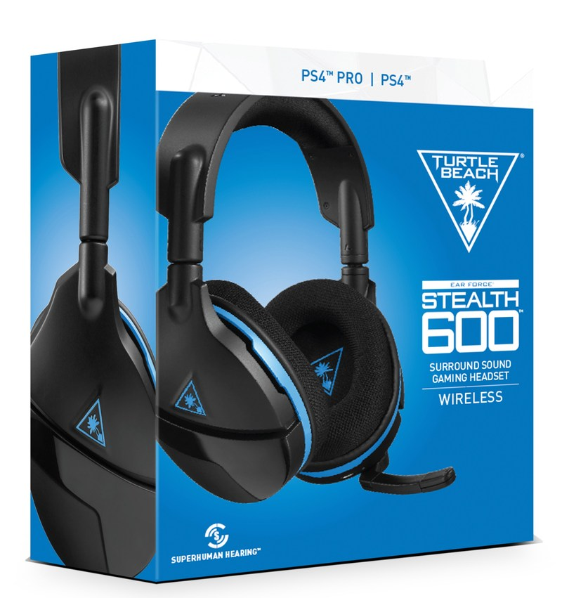 The Turtle Beach Stealth 600 is the latest wireless surround sound gaming headset for PlayStation®4, debuting an all-new modern style with a variety of features…all for an unprecedented MSRP of $99.95.