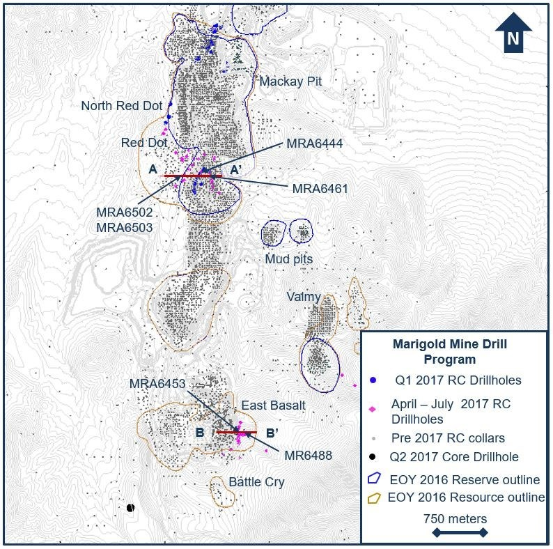 Mine Site Map Example: SSR Mining Provides September 2017 Exploration Update