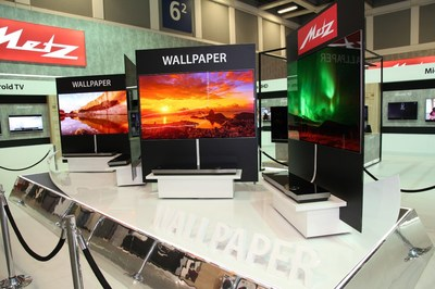 METZ displays its OLED TV sets at 2017 IFA in Berlin, Germany