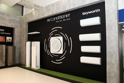 Skyworth showcases its intelligent air conditioner series with both air conditioning and cleaning functions at IFA 2017