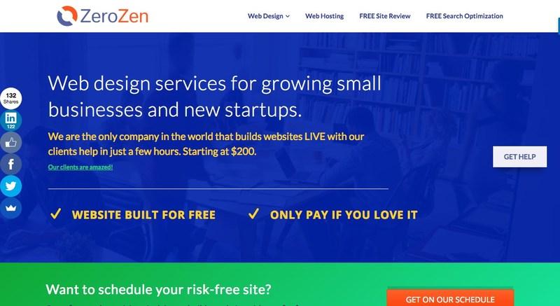 ZeroZen website homepage