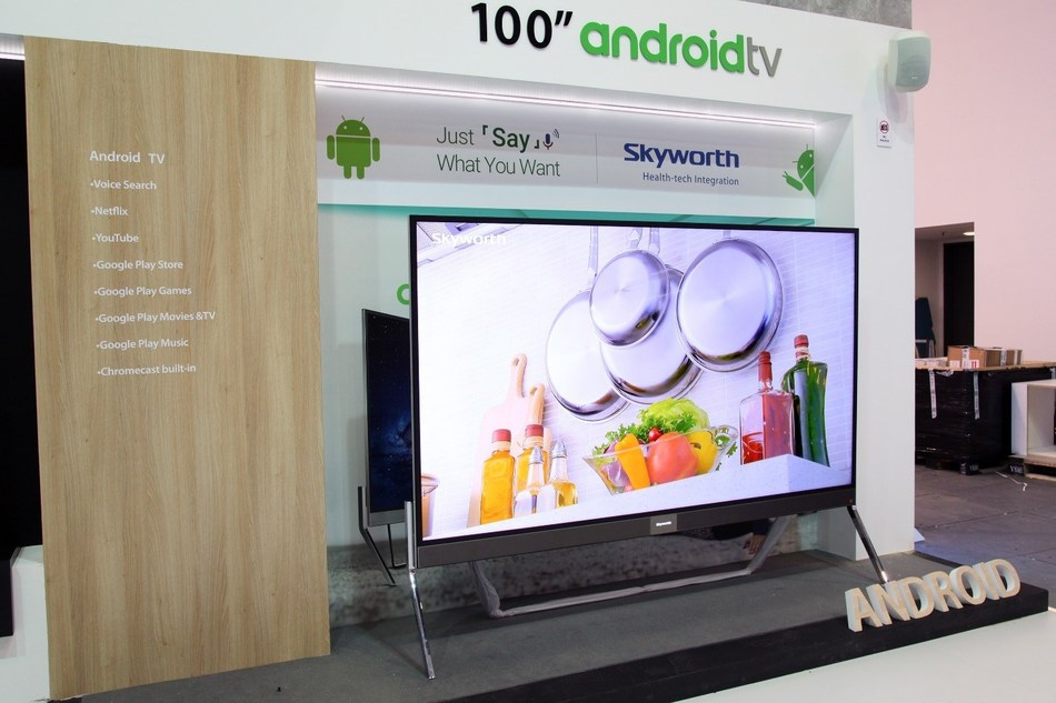 """The 100"""" Android TV co-developed with Google"""