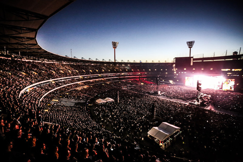 Guns N' Roses at the Melbourne Cricket Ground.