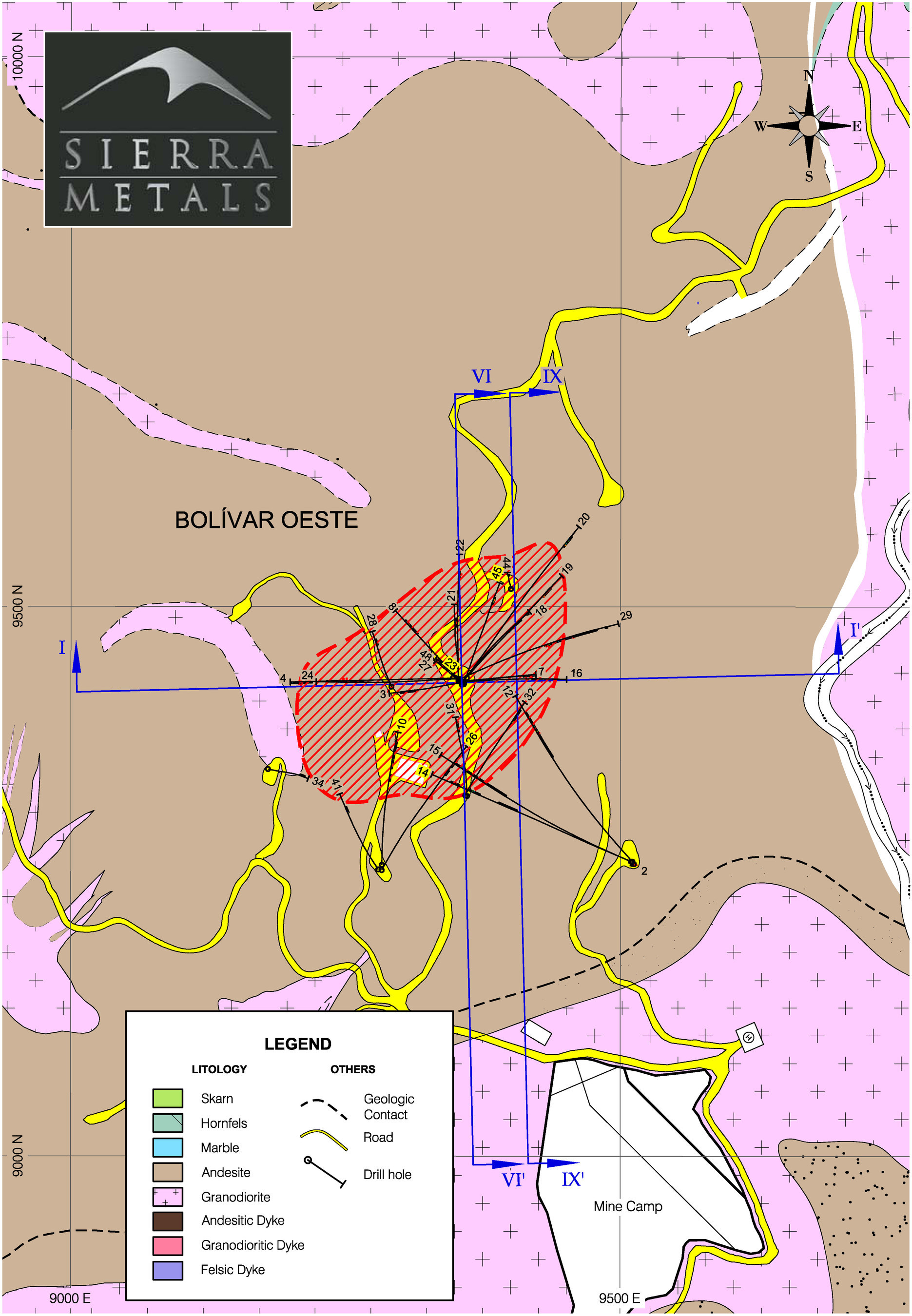 Figure 2. – Drilling Map (CNW Group/Sierra Metals Inc.)