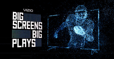 VIZIO Big Screens for Big Plays Gives Professional Football Fans More Reasons to Watch. VIZIO M-Series Display Awarded to Fans Each Time A Play of 40+ Yards Results in A Touchdown.
