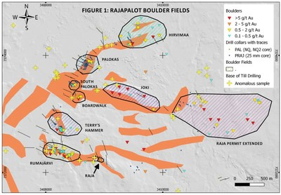 Figure 1: Rajapalot Boulder Fields (CNW Group/Mawson Resources Ltd.)
