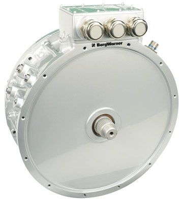 BorgWarner's powerful HVH410 electric motors drive electrification in the commercial vehicle segment, significantly reducing emissions and noise for Scania's new hybrid bus.