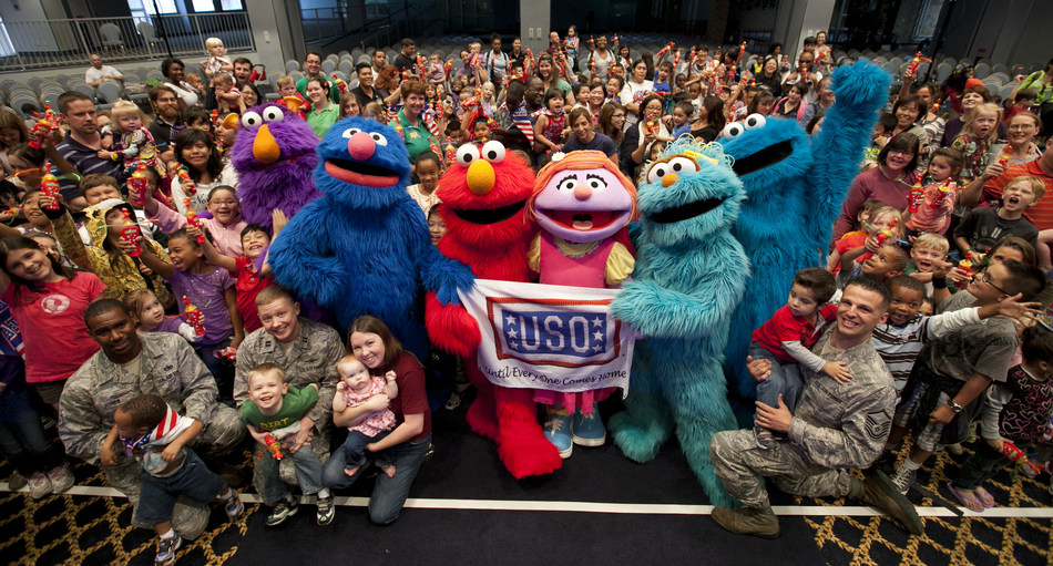 Sesame Street and the USO head overseas to perform for service members and their families.