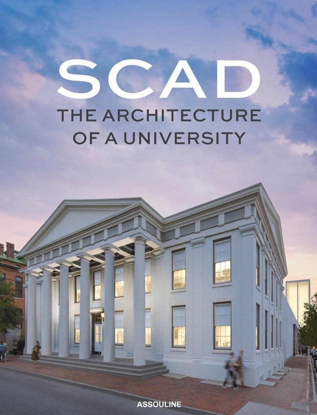 The cover of SCAD: The Architecture of a University, published by Assouline and released on September 5, 2017.