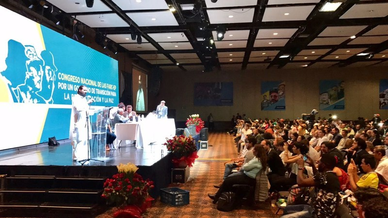 Gurudev Sri Sri Ravi Shankar was invited as guest of honor at the launch of FARC-EP as a political party last week. His interventions helped end the 53-year old conflict between FARC and the Colombian Government. Representing The Art of Living at the launch congress was, Swami Paramtej, a representative of Gurudev.