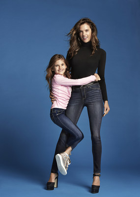 Alessandra Ambrosio and her daughter Anja (left) pose in the Fall/Winter 2017 campaign for Jordache. Photo credit: Cass Bird