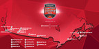 2017-18 Rogers Hometown Hockey Tour Map (CNW Group/Rogers Media)