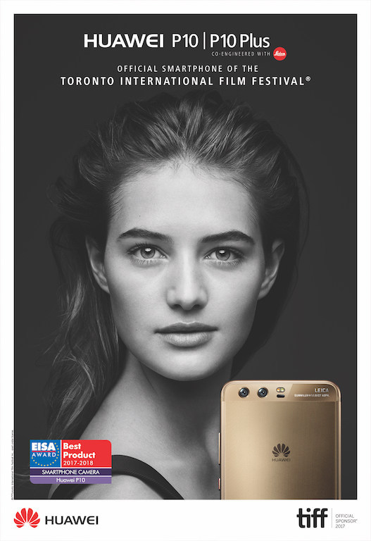 Huawei P10 Named Official Smartphone of TIFF 2017 (CNW Group/Huawei Canada)