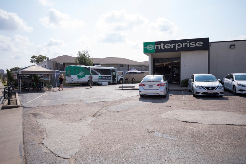 Sept. 2, 2017 – The Enterprise Rent-A-Car Mobile Emergency Response Vehicle, a portable, state-of-the-art branch office, was deployed to 4665 N Braeswood Blvd. in Houston to support relief efforts.