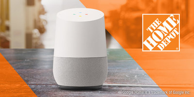 The Home Depot will join Google Express this fall, adding the ability for its customers to shop through voice with the Assistant on Google Home. (PRNewsfoto/The Home Depot)