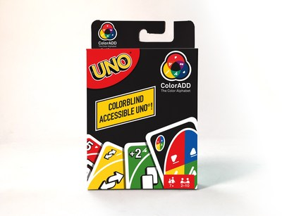 On September 6, International Colorblind Awareness Day, UNO introduced the world's first card game for the colorblind – UNO ColorADD – extending game play to the 13 million Americans who are affected by this condition. Now available on shop.Mattel.com/UNO  with an MSRP of $5.99.