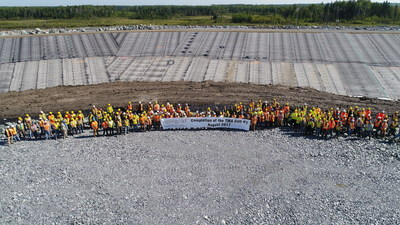 Rainy River construction of TMA start-up cell complete (CNW Group/New Gold Inc.)