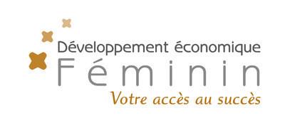 Logo : Développement économique Féminin (Groupe CNW/Réseau des Femmes d'affaires du Québec Inc.)
