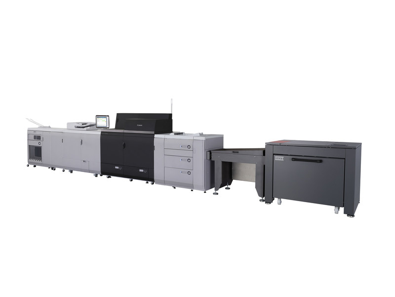 Canon imagePRESS C10000VP with BDT VX-370+ Long Sheet Feeder