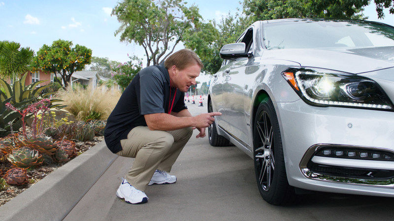 """Jon Gruden demonstrates the trusted performance of Bridgestone DriveGuard tires in new television execution entitled """"Pep Talk"""""""