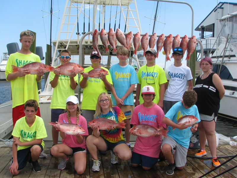 Shaggy's Anglers Showing off their Catch