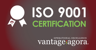 Vantage Agora has recently acquired ISO 9001 Certification applied to the design, development and maintenance of the patent-pending Business Operating System, OX Zion.