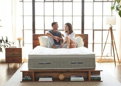 Made with eco-friendly and organic materials, the Cedar mattress is the most sustainable mattress available for purchase online. (PRNewsfoto/Brentwood Home)