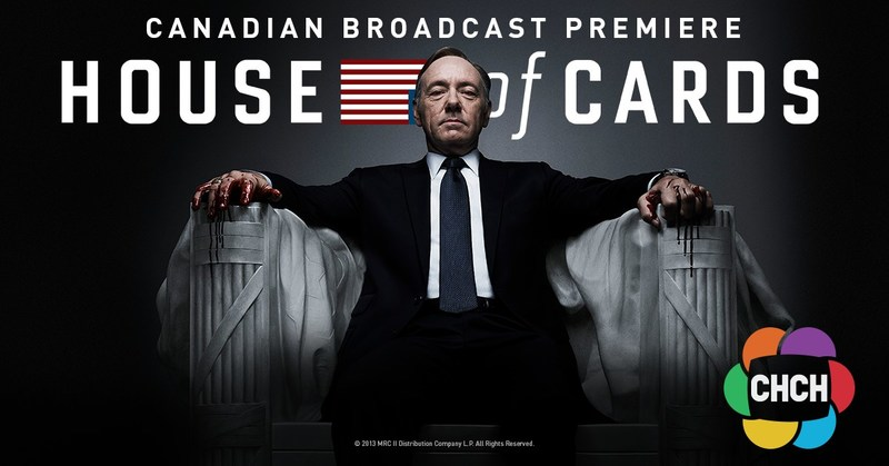 House of Cards - Canadian Broadcast Premiere September 13 on CHCH (CNW Group/CHCH Television)