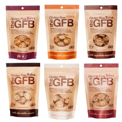 The Gluten Free Bar (GFB) expands product lineup with introduction of new, grab-and-go Bites. (PRNewsfoto/The Gluten Free Bar (GFB))