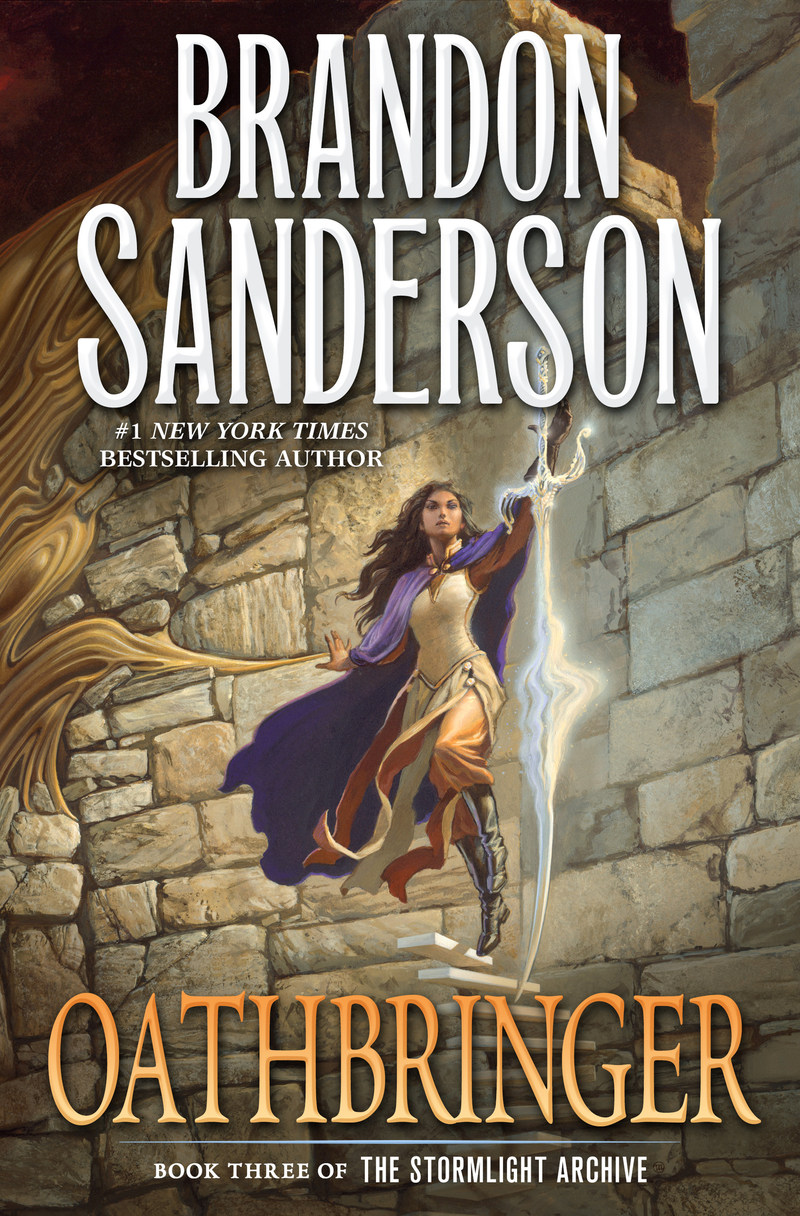 Oathbringer by Brandon Sanderson, the third book in the Stormlight Archive series.