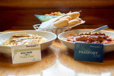 Olive Garden Never Ending Pasta Pass & Pasta Passport to Italy