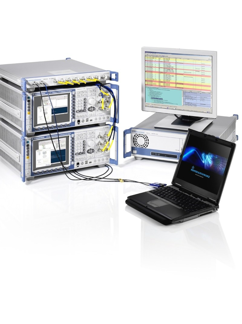 The R&S CMWflexx system can measure data throughput exceeding 1 Gbps in the downlink
