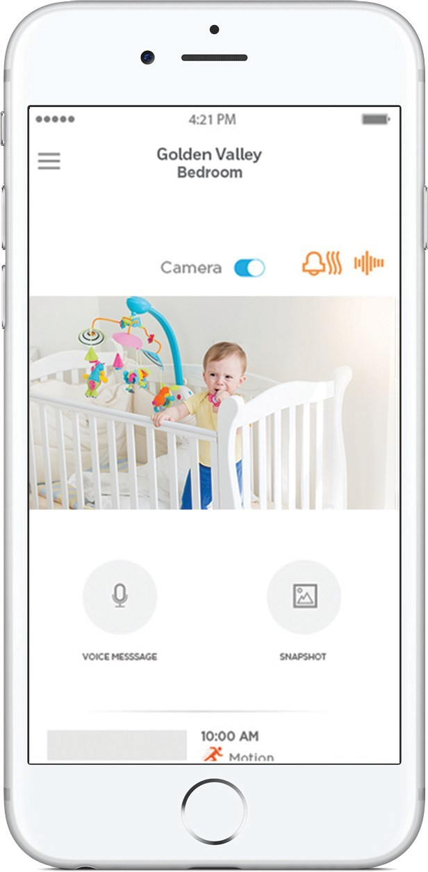 The Honeywell Lyric C2 Wi-Fi Security Camera, with unique sound detection.