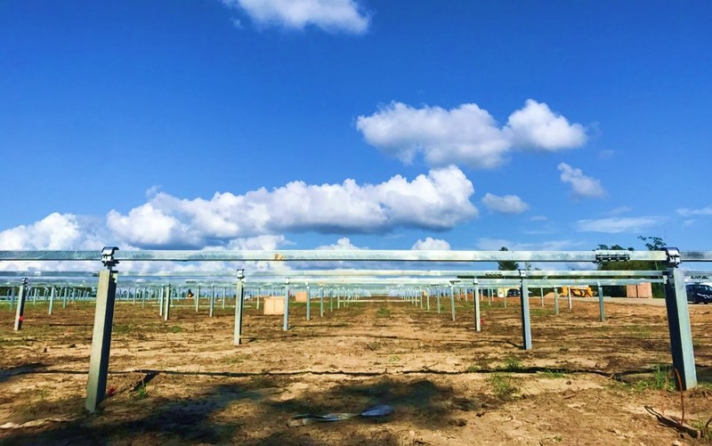 The first 3.1MWp project deploying Arctech Solar single axis trackers is under construction in the State of Georgia, United States