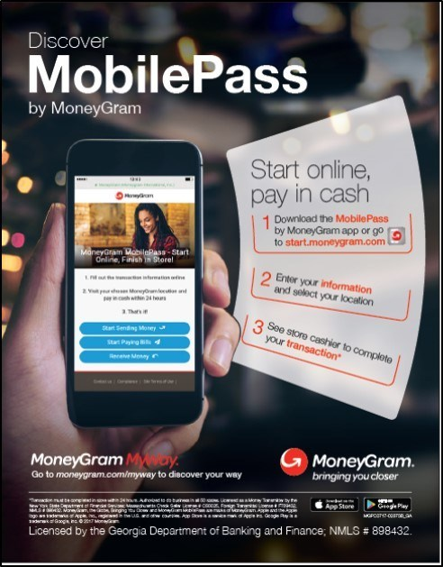 MoneyGram MobilePass Now Available at More Than 35,000 US Locations
